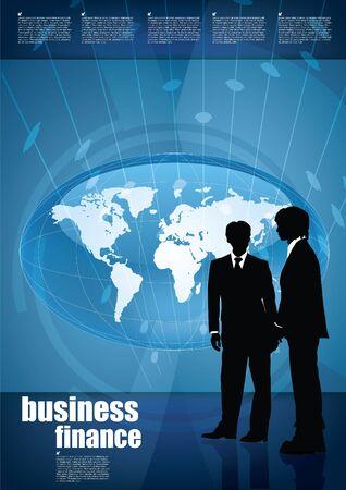 world globe tech background Stock Vector - 15933875