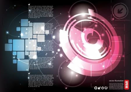 company background: Astratto sfondo tecnologia Vettoriali
