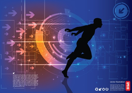 runner background Stock Vector - 15934449