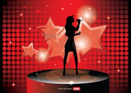 popster zanger achtergrond
