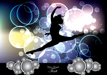 woman dancing background  Vector