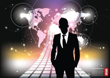spot lights: business background  Illustration