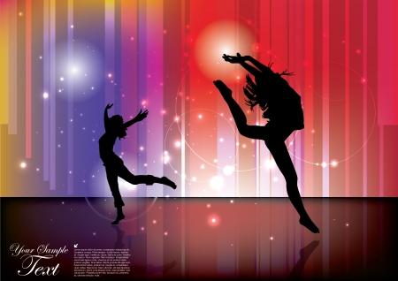bailarines silueta: ballet fondo