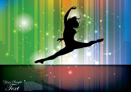 modern dancer: ballet background