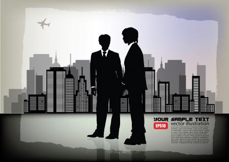 two businessmen Stock Vector - 16029661