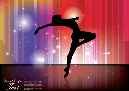 Fond ballet Banque d'images - 16029676