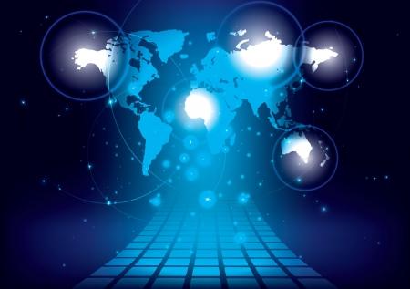 conexiones: Conocimiento de los negocios Global Vectores