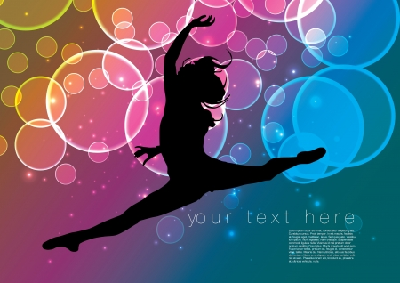 flexible girl: dancing woman background