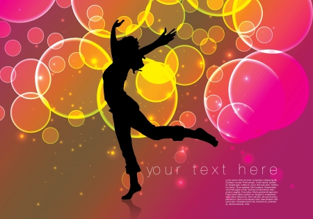 abstract dance: dancing woman background