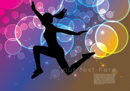 gymnastic girl: dancing woman background