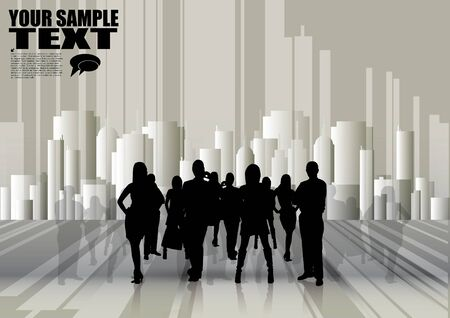 business people team in the city  Vector
