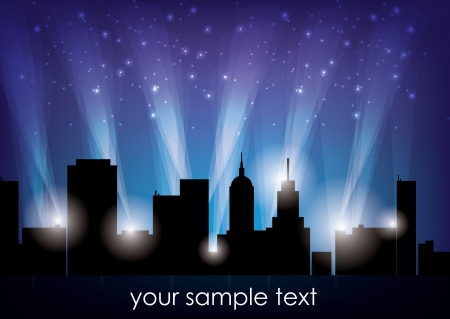 city lights background  Vector
