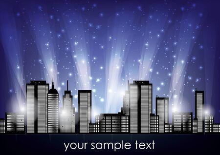 city lights: city lights background  Illustration