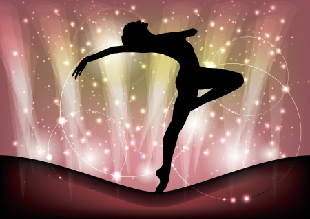 magic ballet background  Vector