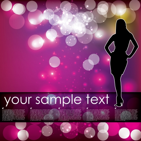 party dancer background  Vector
