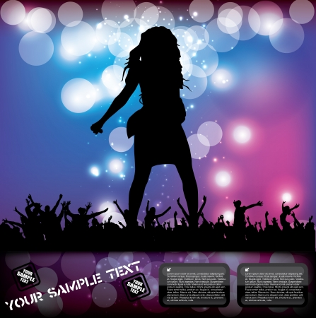 pop concert poster  Stock Vector - 16590676