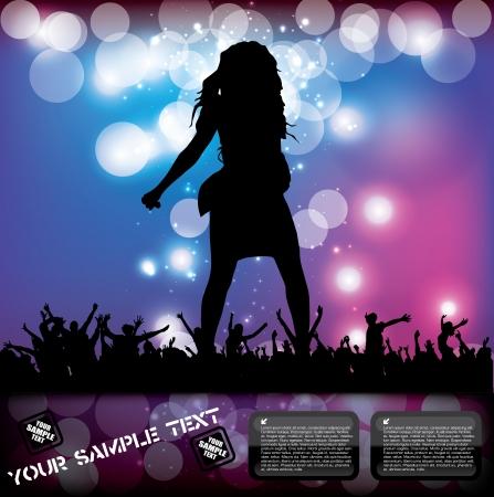 live entertainment: pop concert poster
