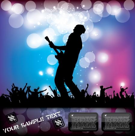 guitarristas: Cartel del concierto de rock concepto