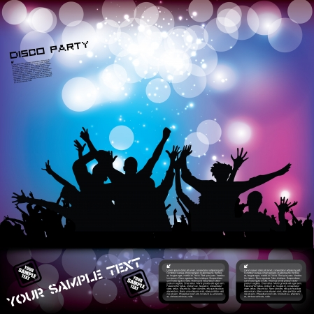 party: Party Plakat Konzept Illustration