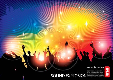 party people background Stock Vector - 16833045