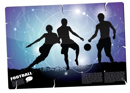 floodlight: football background