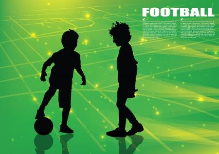 boys playing football Stock Vector - 16833050