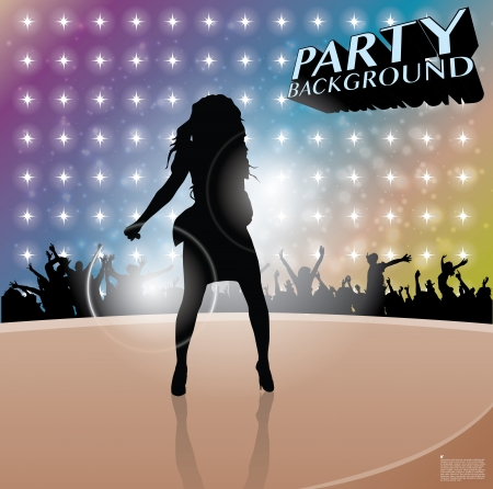 pop star singer background  Vector