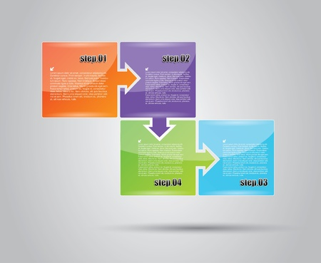 analyse: business diagram concept  Illustration