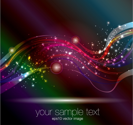 wavy glowing background Stock Vector - 16891242