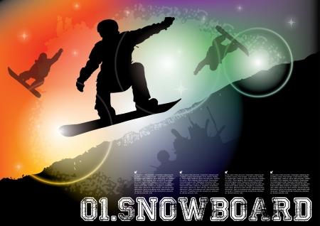 snowboard illustration