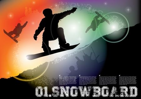 snowboard illustration  Stock Vector - 16933299