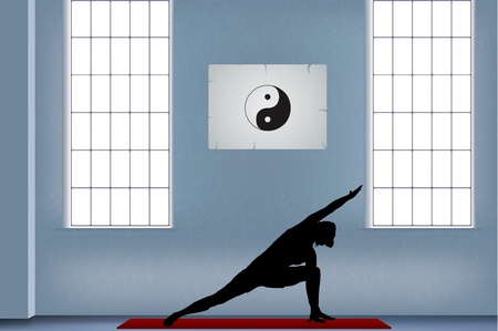 joga: joga illustration  Illustration