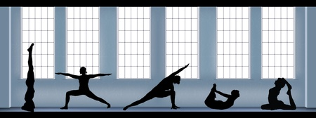 people training joga  Vector