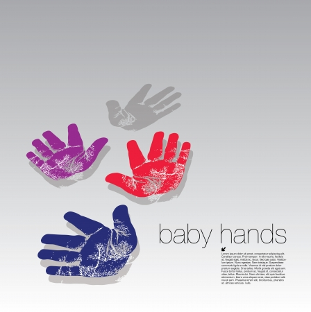 baby handprints concept Stock Vector - 17048364
