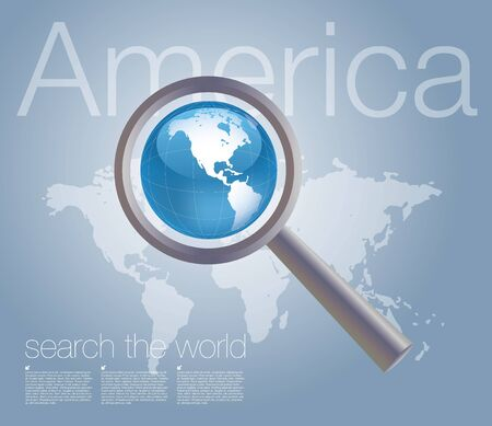the americas: searching the world background