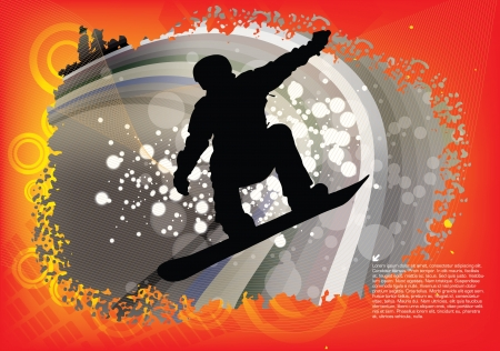 snowboarder background Stock Vector - 17240657
