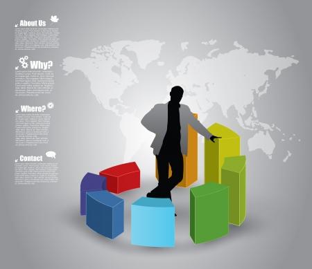 progress bar: business chart concept