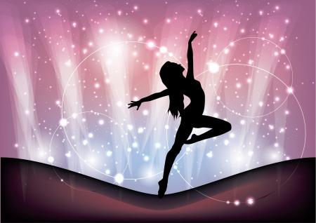 magic ballet achtergrond Stock Illustratie