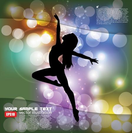 magic ballet background Stock Vector - 17316213