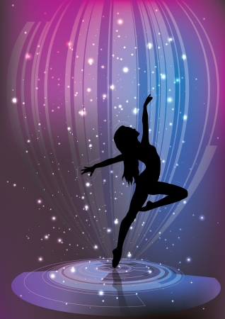 danza moderna: fondo de ballet m�gico Vectores