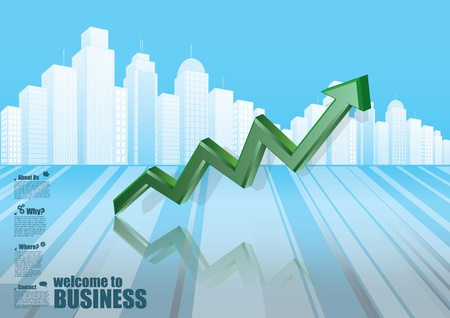 increase diagram: business background  Illustration
