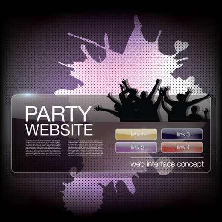 party website template Stock Vector - 17390247