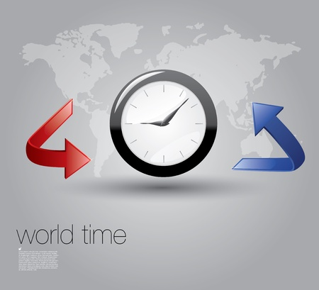 world time zones concept  Vector