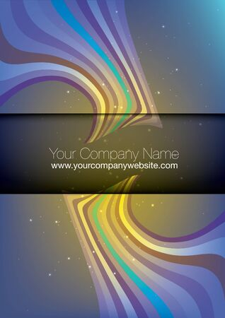 banner effect: company folder cover concept