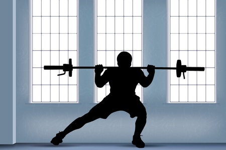 muscle training: weightlifter illustration