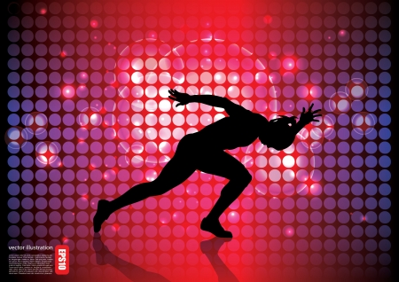running man background  Stock Vector - 17439629
