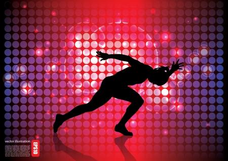running man background Stock Vector - 17439629