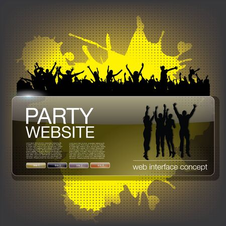 party website splash  Stock Vector - 17456729