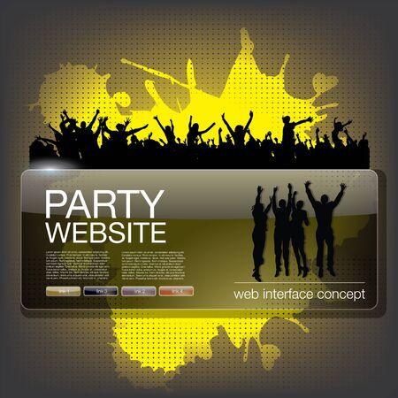 party website splash Stock Vector - 17456729