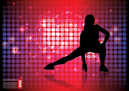 woman sport background  Vector